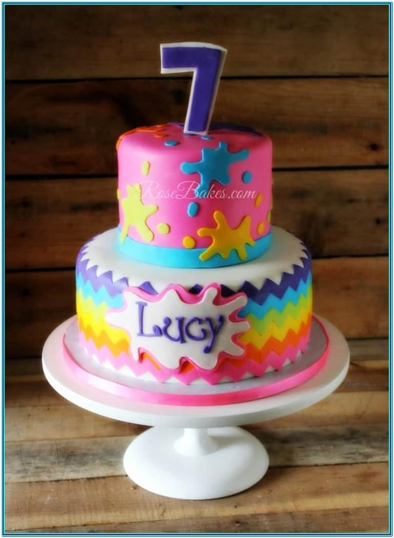 Paint Party Cake Ideas
