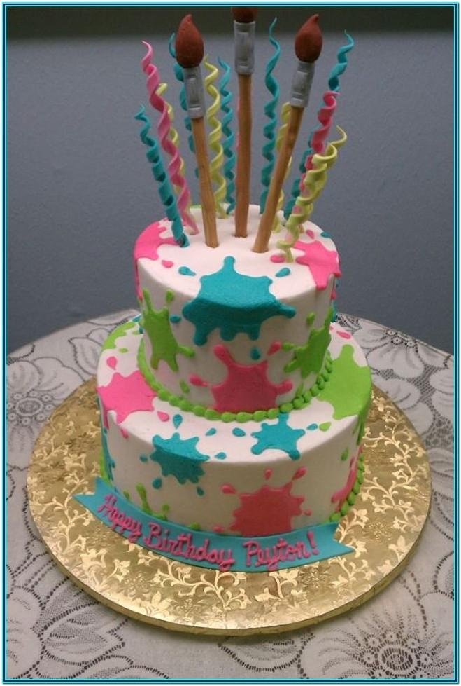 Paint Splash Cake Ideas