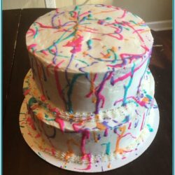 Paint Splatter Cake Ideas