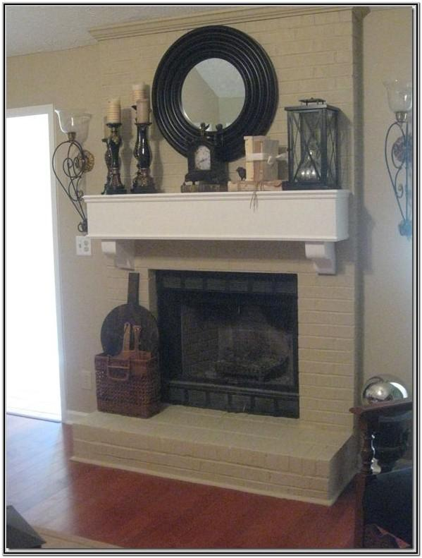 Painted Fireplace Decor
