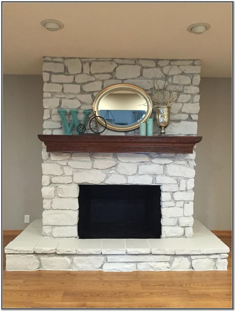 Painted Rock Fireplace Ideas