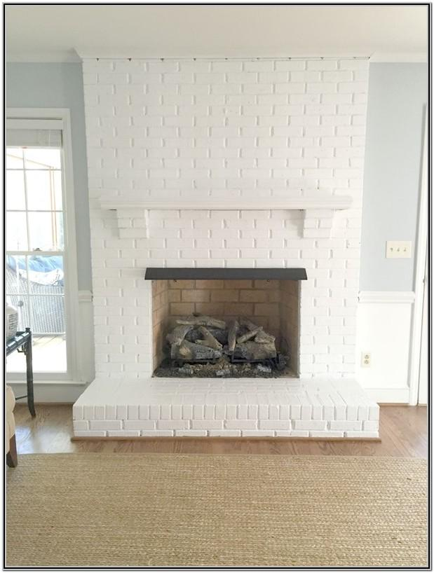 Painted White Brick Fireplace Ideas