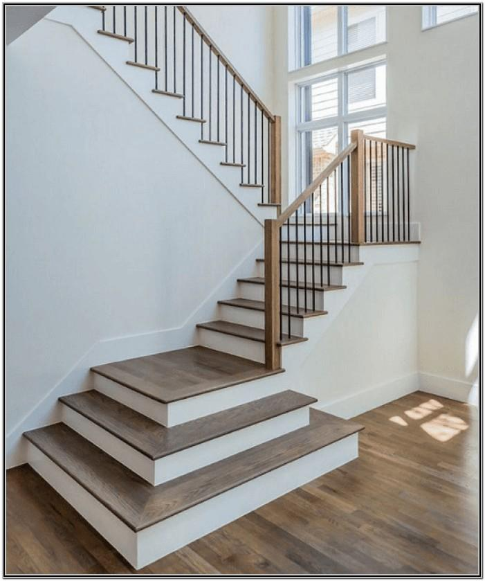 painted wood stairs ideas