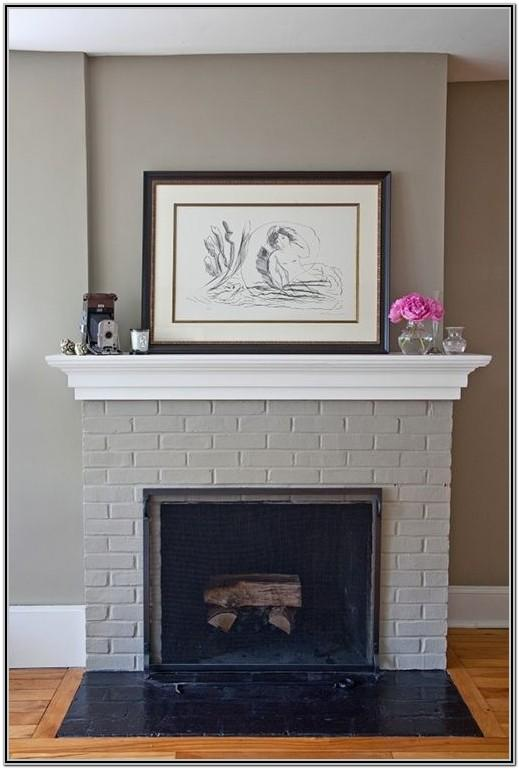 painting brick fireplace ideas pictures