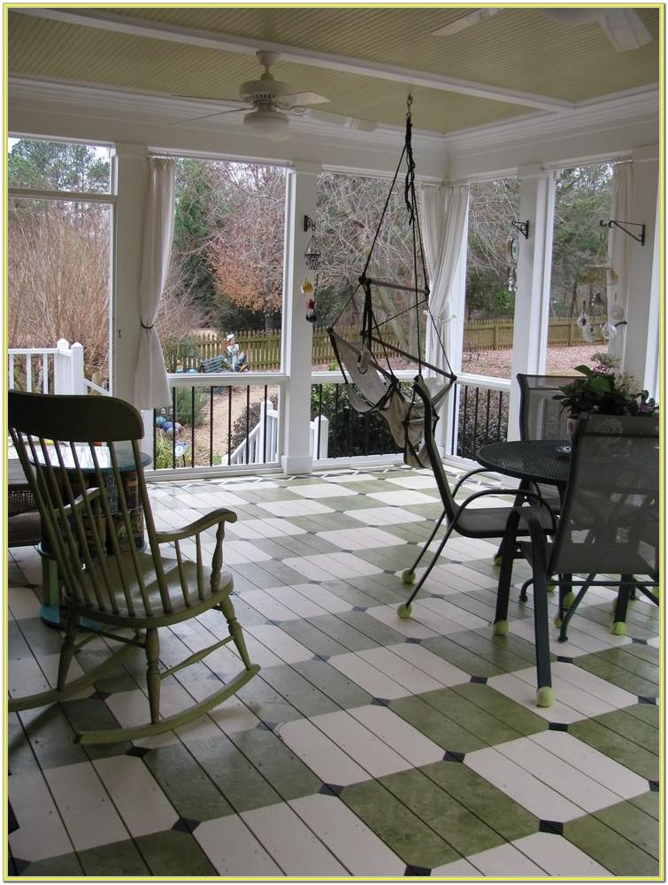 Patio Floor Paint Ideas
