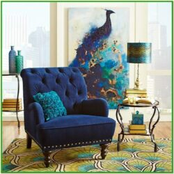 Peacock Blue Living Room Decor