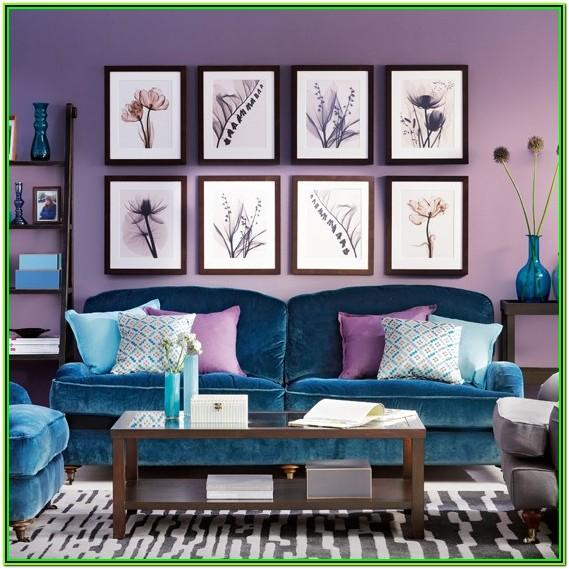 Peacock Color Inspired Living Room Decor