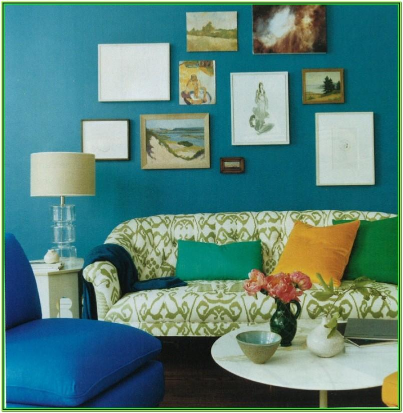 Peacock Inspired Living Room Decor