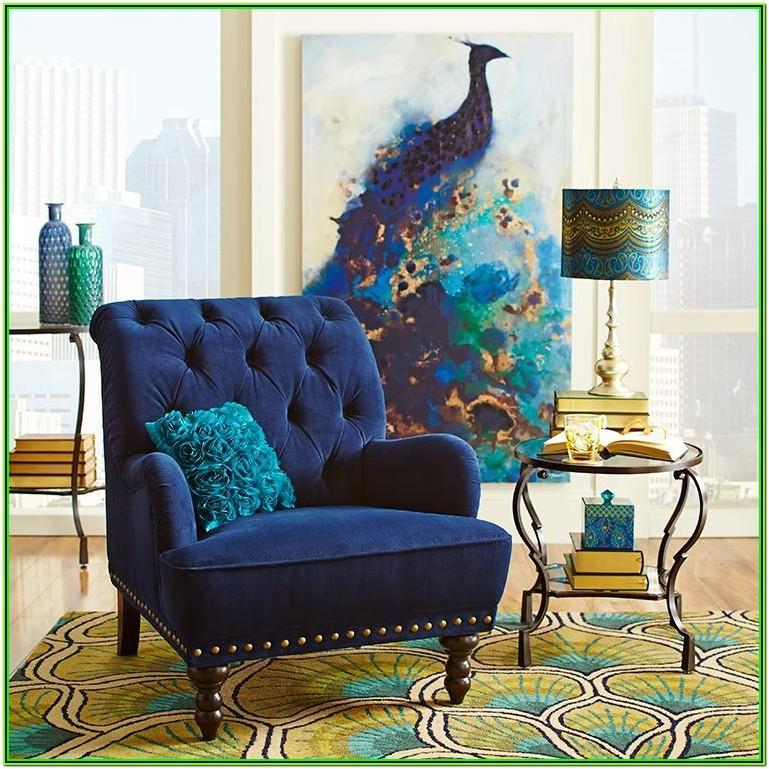 Peacock Theme Living Room