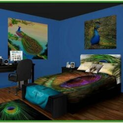 Peacock Themed Living Room Decor