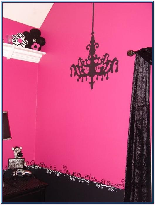 Pink And Black Wall Paint Ideas