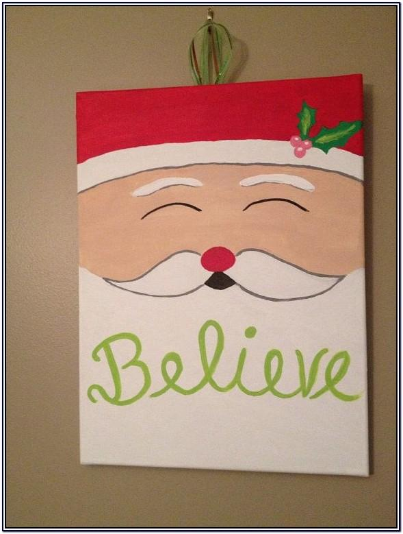Pinterest Christmas Canvas Painting Ideas
