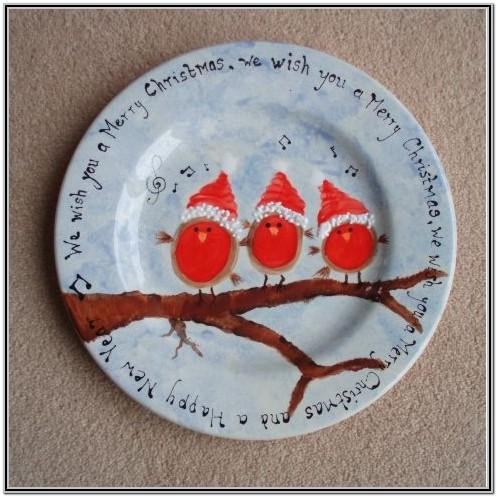 Pottery Painting Ideas Christmas