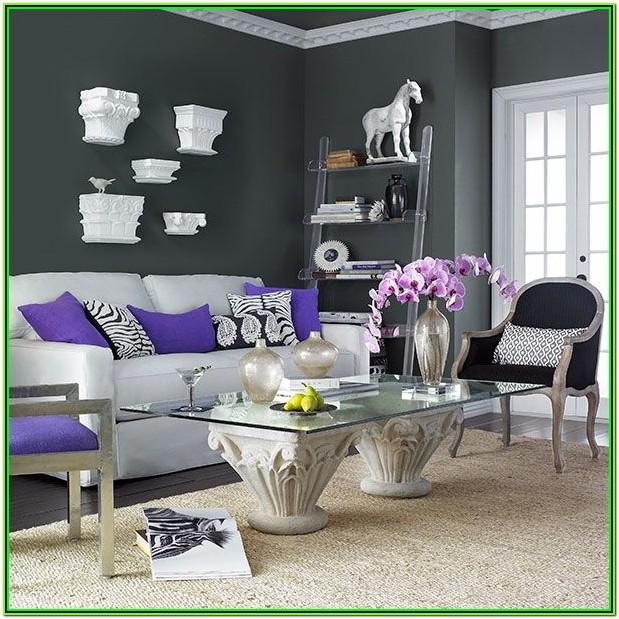 Purple And Grey Living Room Accessories
