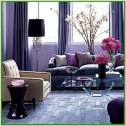 Purple And White Living Room Decor