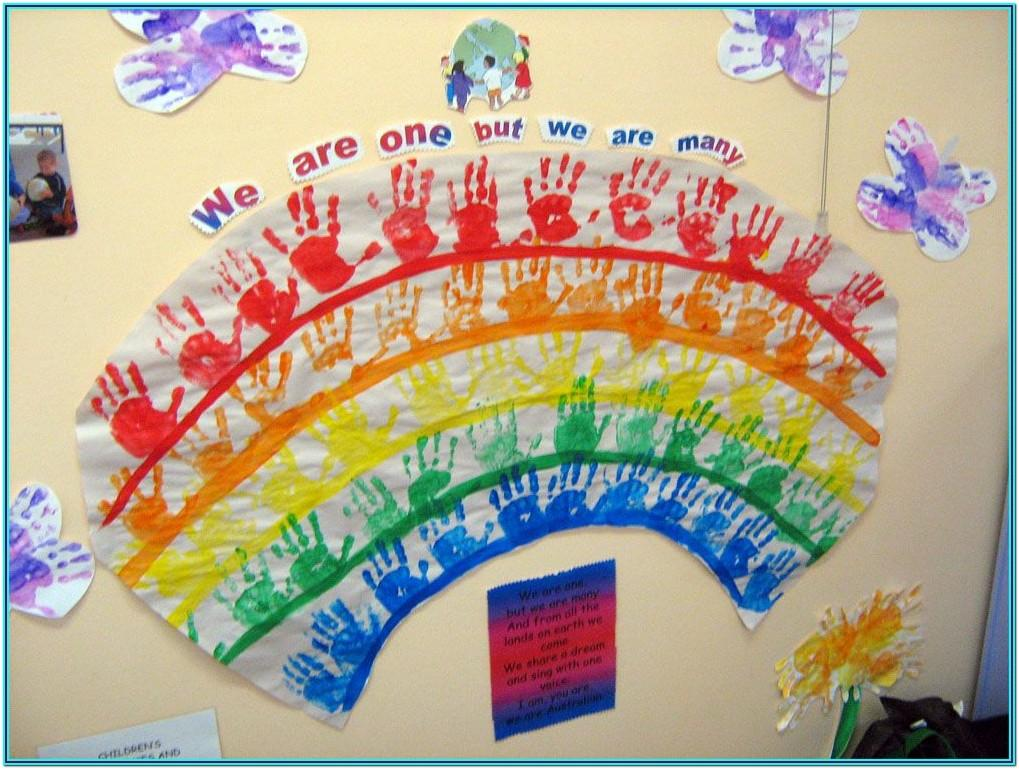 rainbow painting ideas for preschool
