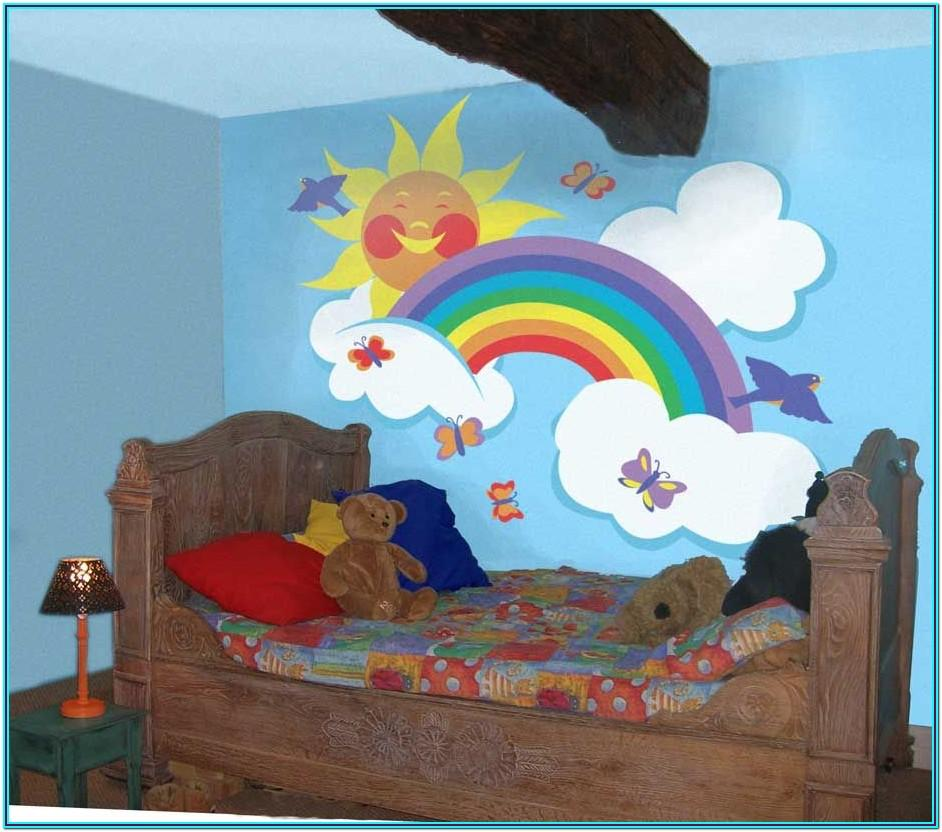 Rainbow Wall Painting Ideas