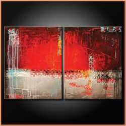 Red Abstract Canvas Painting Ideas