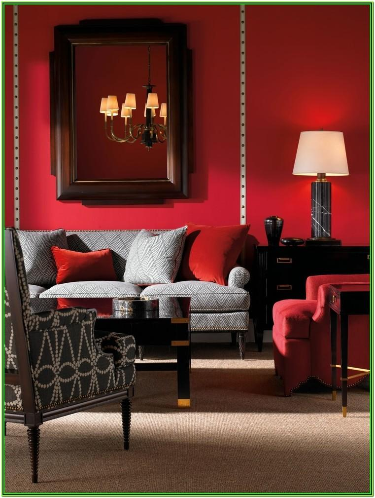 Red And Gray Living Room Decor