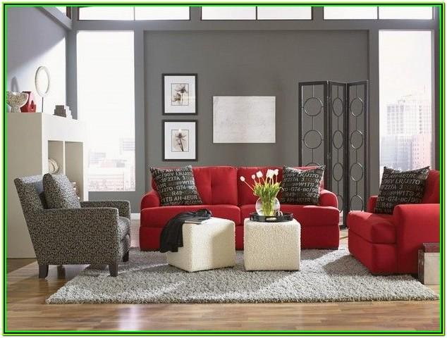 Red And Grey Living Room Accessories