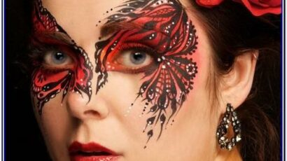 Red And White Face Paint Ideas