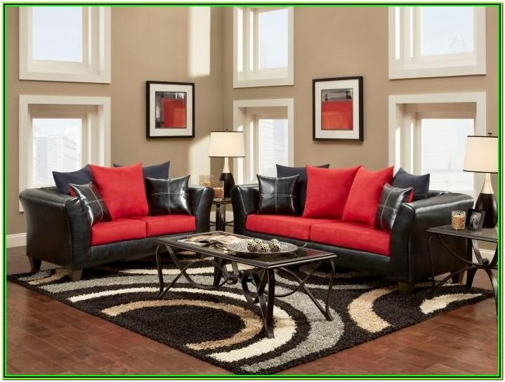 Red And White Living Room Decor