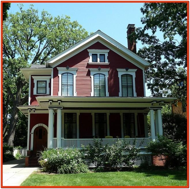 red exterior house color schemes