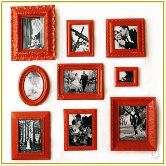 red picture frame painting ideas