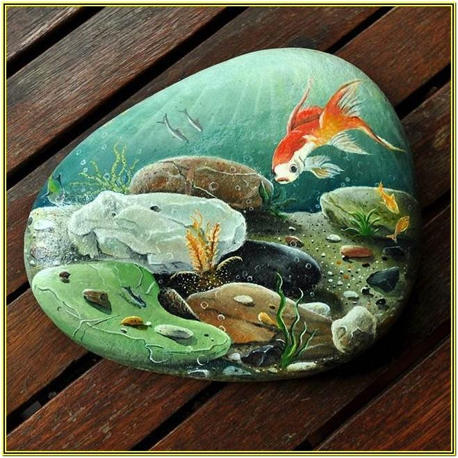 rock painting ideas animals