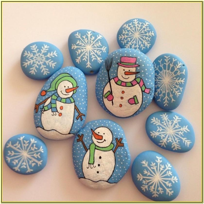 Rock Painting Ideas Christmas