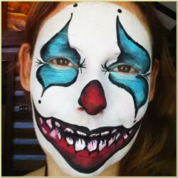 Scary Clown Face Paint Ideas