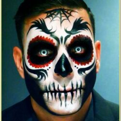 Scary Face Paint Ideas For Guys