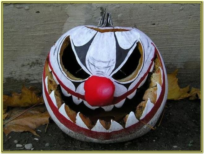 scary pumpkin painting ideas easy