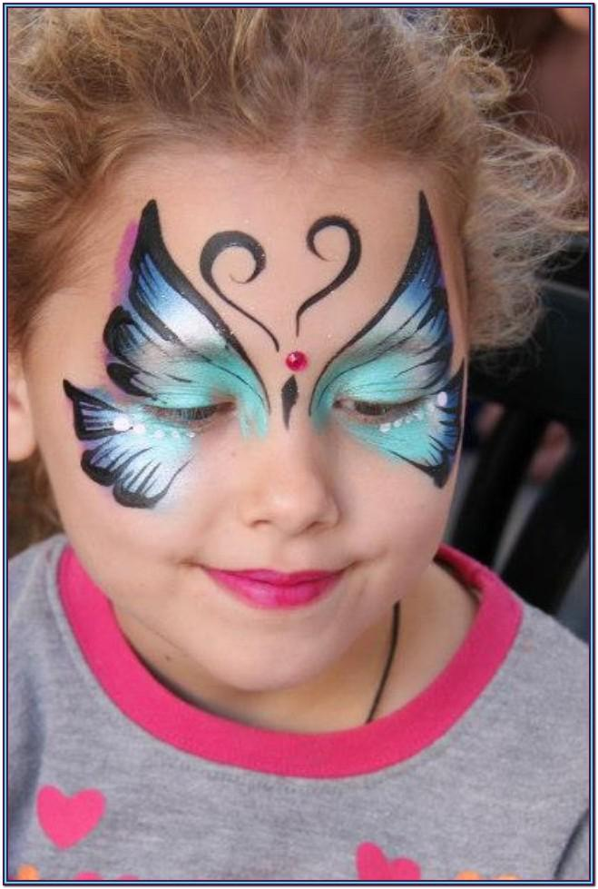 simple butterfly face paint ideas