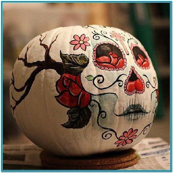 Skull Pumpkin Painting Ideas
