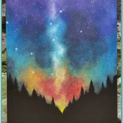 Space Canvas Painting Ideas