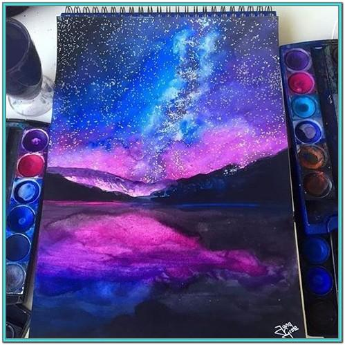 Space Painting Ideas Easy