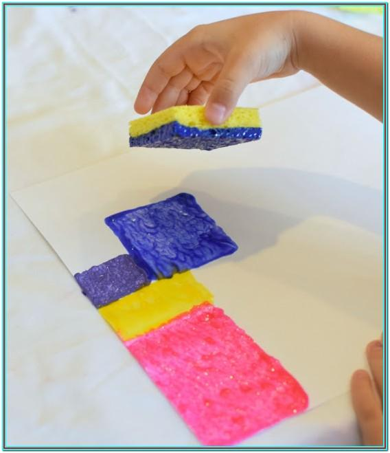 Sponge Painting Ideas For Preschool