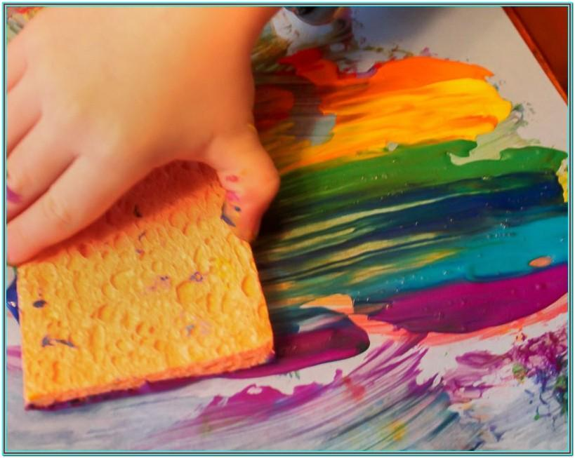 Sponge Painting Ideas For Toddlers