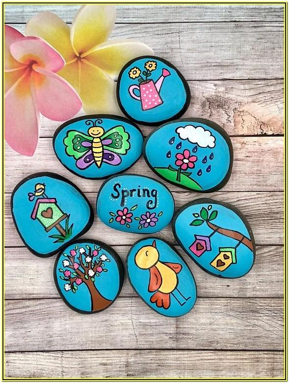 Spring Rock Painting Ideas
