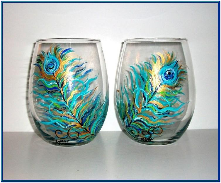 Stemless Wine Glass Painting Ideas