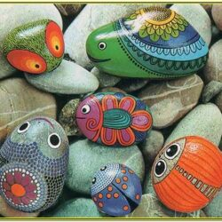 Stone Painting Ideas For Garden