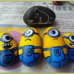 Stone Painting Ideas Minions