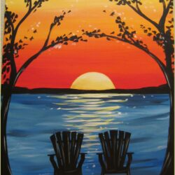 Sunset Canvas Painting Ideas