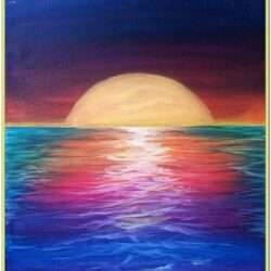 Sunset Painting Ideas For Beginners