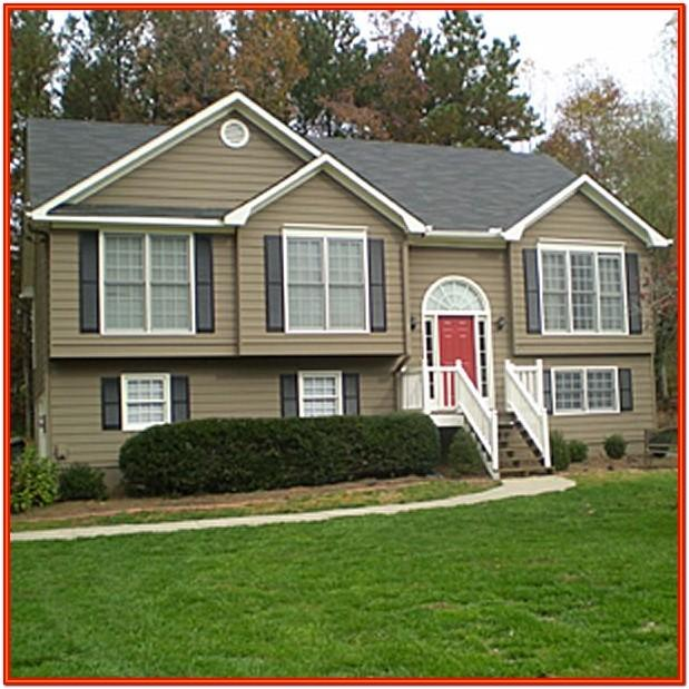 Tan And Red Exterior House Colors