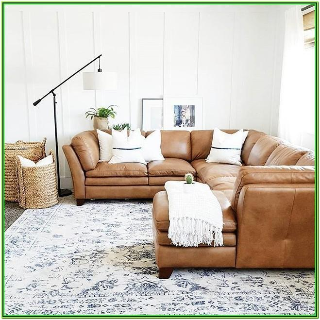 Tan Sectional Living Room Decor