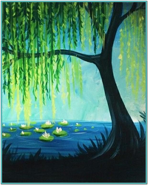 Tree Painting Ideas On Canvas