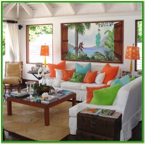 Tropical Living Room Decoration