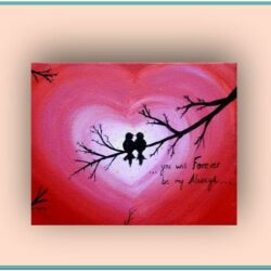 Valentine Canvas Painting Ideas